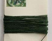 5 Yards Emerald Green 4 ply Irish Waxed Linen Thread