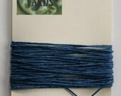 5 Yards Royal Blue 4 ply Irish Waxed Linen Thread
