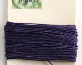 10 Yards Plum 4 ply Irish Waxed Linen Thread
