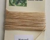 5 yrds Natural 4 ply Irish Waxed Linen Thread