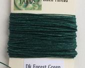 10 Yards Dark Forest Green 4 ply Irish Waxed Linen Thread