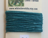 10 Yards 4 Ply Teal Irish Waxed Linen Thread