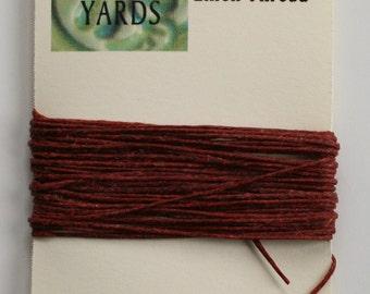5 Yards Dark Rust Irish Waxed Linen Thread