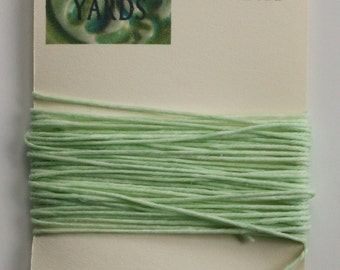 5 Yards Mint 4 ply Irish Waxed Linen Thread
