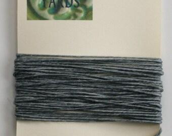 5 Yards Slate Grey Irish Waxed Linen Thread