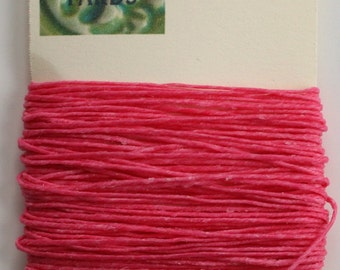 10 Yards Fuchsia 4 ply Irish Waxed Linen Thread