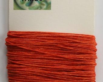 10 Yards Orange 4 ply Irish Waxed Linen Thread