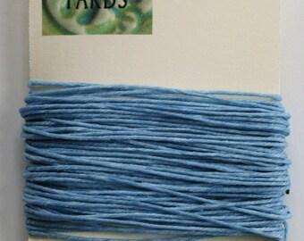 10 Yards Robin Egg Blue 4 ply Irish Waxed Linen Thread