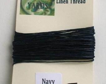 5 yrds Navy 4 ply Irish Waxed Linen Thread