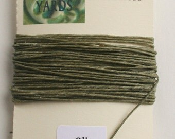 5 yrds Olive 4 ply Irish Waxed Linen Thread
