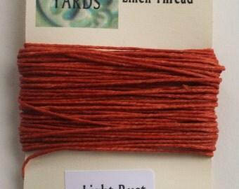 10 yrds Light Rust 4 ply Irish Waxed Linen Thread