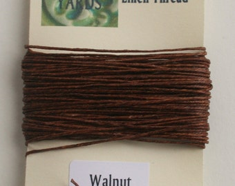 10 yrds Walnut 4 ply Irish Waxed Linen Thread