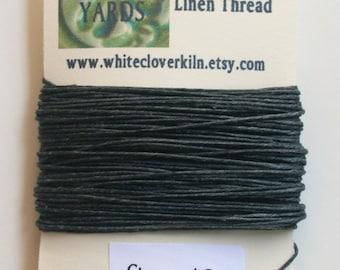 10 Yards 4 Ply Charcoal Grey Irish Waxed Linen Thread