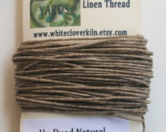 10 Yards 4 Ply Un-Dyed Natural Irish Waxed Linen Thread