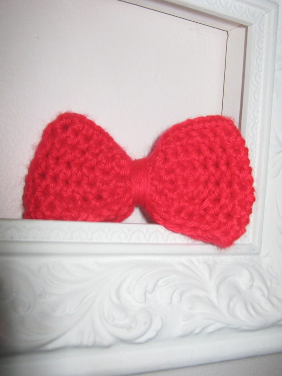 Little Red Knit Bow