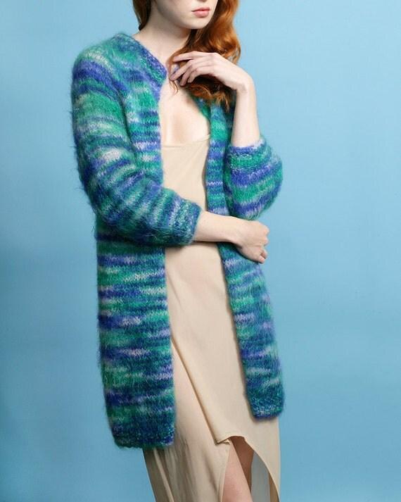 Aqua Nubby Sweetiepie Retro Sweater Coat