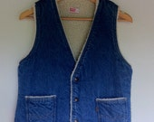 Warm Lined Denim Cowboy Vest