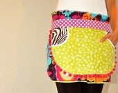 The Ultimate Hostess Apron - Floral Zebra Polka Dot -RESERVED for lindzmarie-