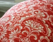 18 x 18 Quilted Pillow Cover and Insert, Orange, White and Pink Fandango by Kate Spain