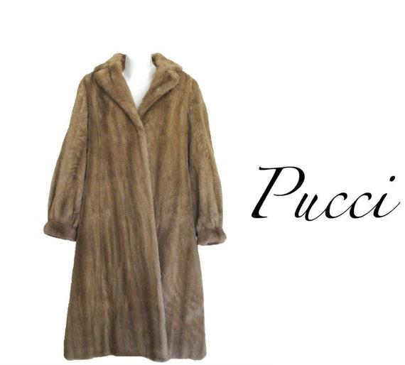 PUCCI 60s Coat / 1960s Coat / Fur Coat / Faux Fur /  L