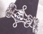 Chainmaille Skull Ring - Hand-Turned Copper, Sizes 7 thru 13 Available