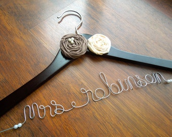 Personalized Wedding Dress Hanger for Bride or Bridesmaid