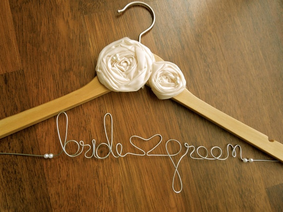 Personalised bridal hanger wedding dress hanger for by ivision for Personalised wedding dress hanger