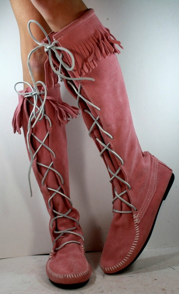 Vintage Indian Lace Up Southwest Knee High By