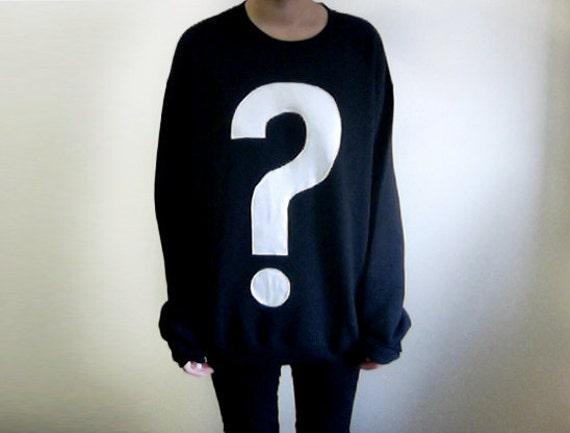 ON SALE - ello - Question Mark Sweater - Black / White - M/L