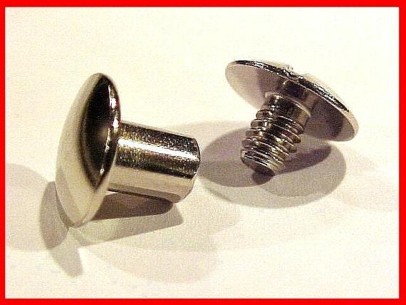 CHICAGO SCREWS 1/4 inch NICKEL 100 Pack Plated Steel Plain Cap