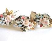 Bridesmaids gift bracelets set - wedding jewelry - bridesmaids bracelet - shabby chic romantic vintage - pastel colours