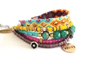 RESERVED for Michele - bohemian gypsy multiple strands friendship bracelet - made to order
