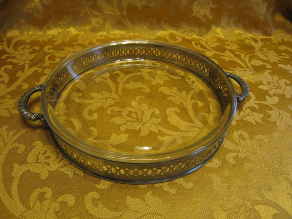 Vintage Silverplate Pie Holder With Pie Plate