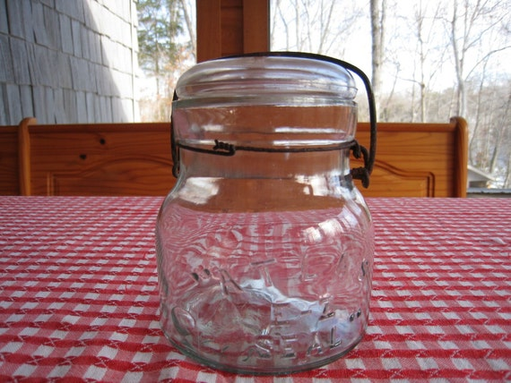 Atlas E Z Seal Chubby Canning Jar with Glass Lid