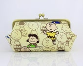 Peanuts (the doctor is in) - 8 inches Large Frame Clutch - the Emma Clutch