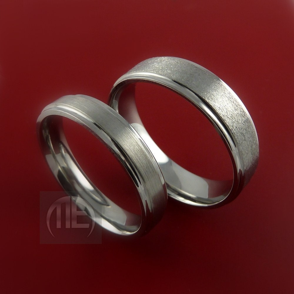 Wedding Rings Sets on Titanium His And Her Matching Rings Wedding Band Set Sizes 3 22