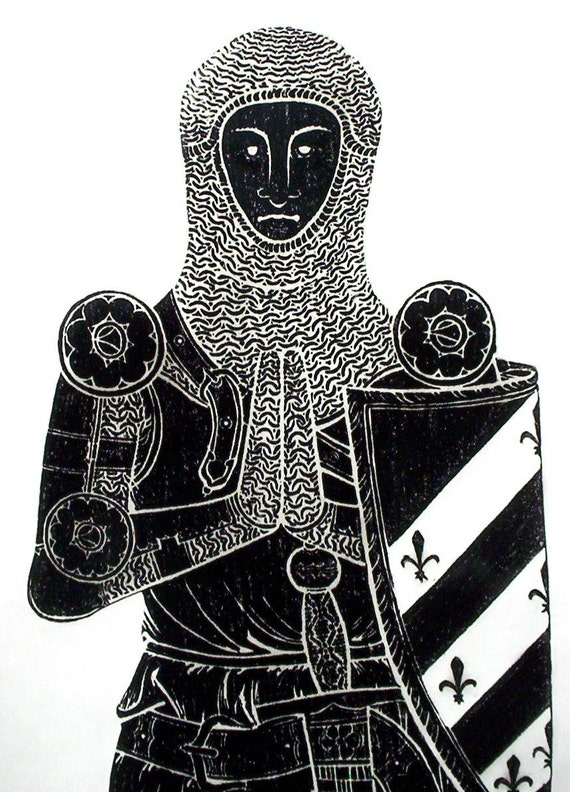 Sir WIlliam Fitzralph In  plate armour. 14th Century.- a Spectacular Brass Rubbing... MARKED DOWN 15%..