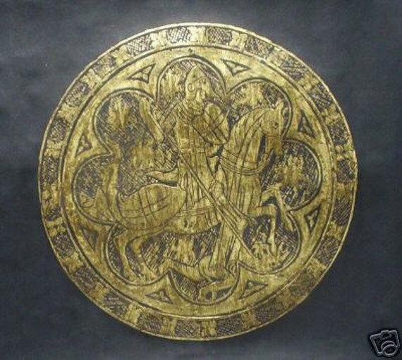 Special Edition. Circular St. George & the Dragon Circle...Reduced..30% OFF