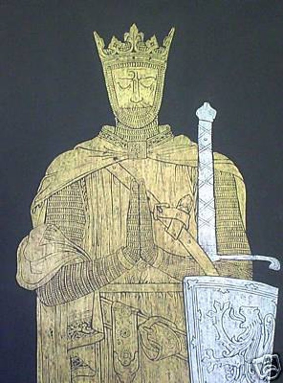 King Robert the Bruce of Scotland, Brass Rubbing......Free shipping
