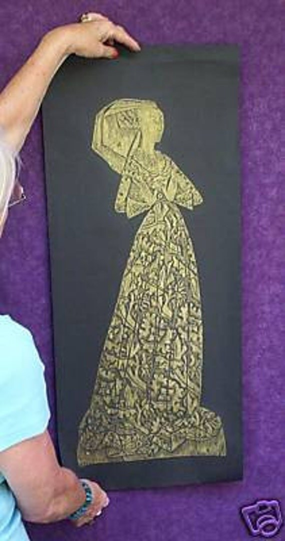 Lady Margaret Peyton..The Lace Lady A Brass Rubbing....Reduced......FREE SHIPPING