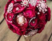 Pink Brooch Wedding Bouquet