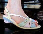 1980s Ice Cream Pastel Sandals