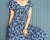 Vintage 1980's Cotton Sun Dress 80's Does 50's