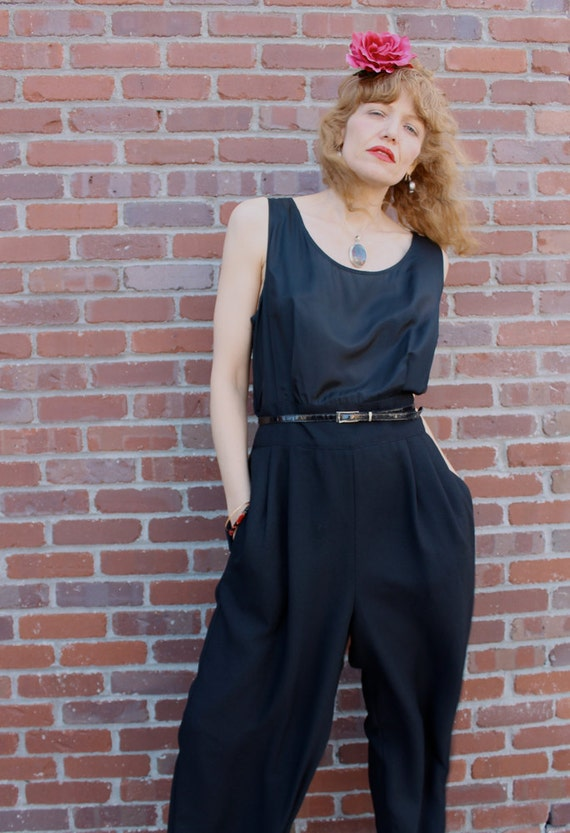 Vintage 80's Black Jump Suit DESPERATELY SEEKING SUSAN