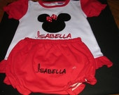 Embroidered Personalized Mickey  2 pc set