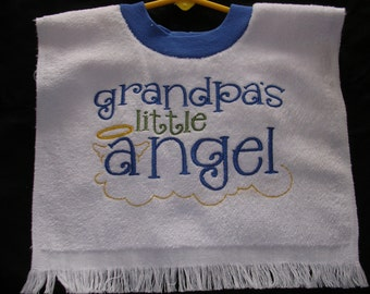 Grandpa's Angel Over the Head Bib