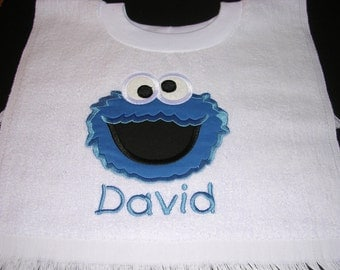 Cookie monster   Bib