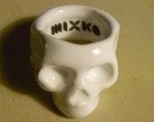 17mm Ceramic Skull Ring