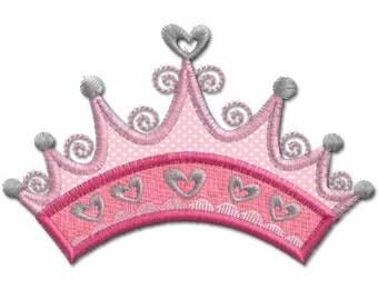 Princess Crown Applique, Machine Embroidery Designs