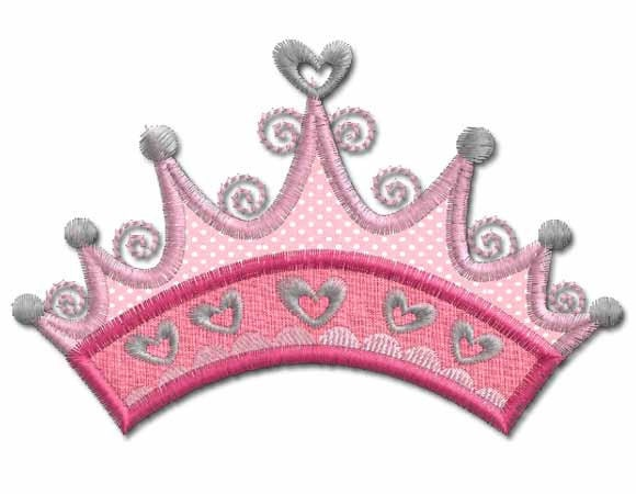 Princess Crown Applique Machine Embroidery by Embroidershoppe